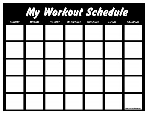 gym | workout calendar